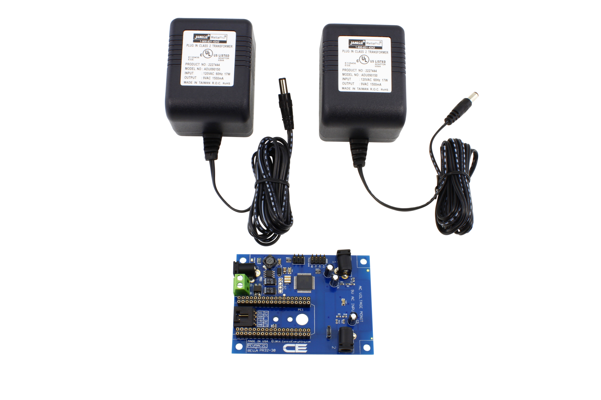 Dual 120V AC Mains Voltage Monitor with IoT Interface